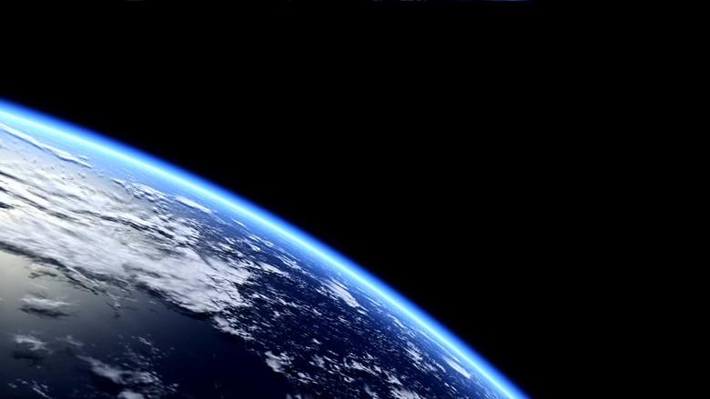 实拍视频 城市景观  其他 > 从太空中拍地球俯瞰地球卫星行星星空  版图片