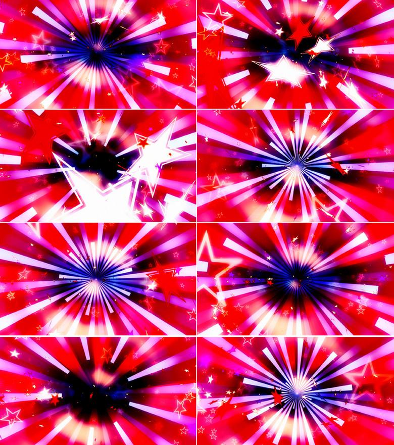 形视觉冲击星星飘舞LED舞台背景模板素材 高清MP4格式下载 视频图片