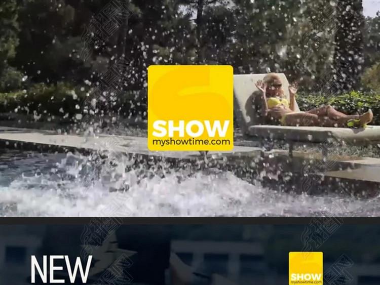时尚休闲娱乐电视栏目包装设计视频ae模板