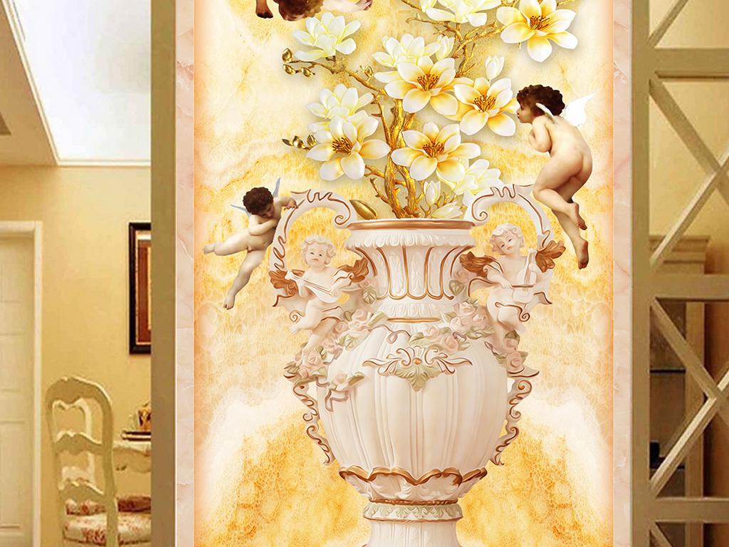 3d欧式花瓶贴图