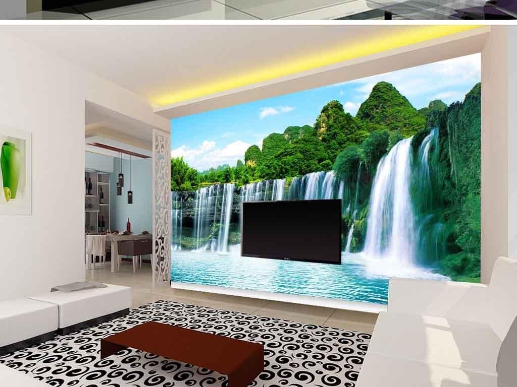 山水风景电视背景墙