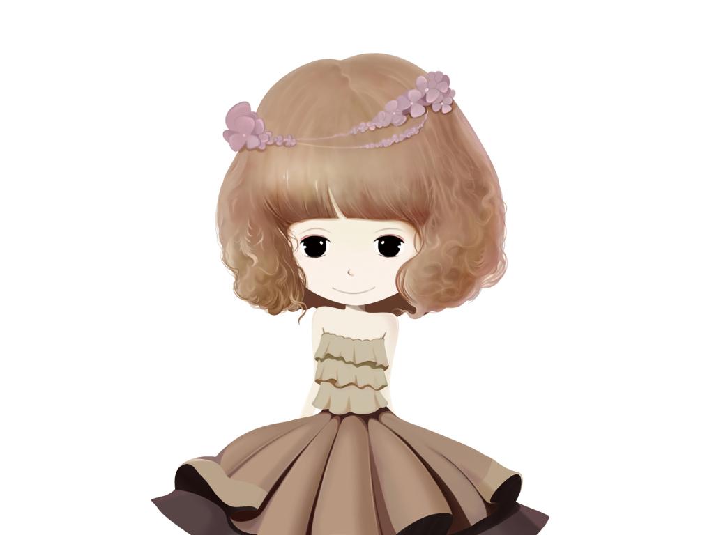 手绘女孩韩国插画金色衣服手机壳图案衣服图案印花公主花花公主唯美