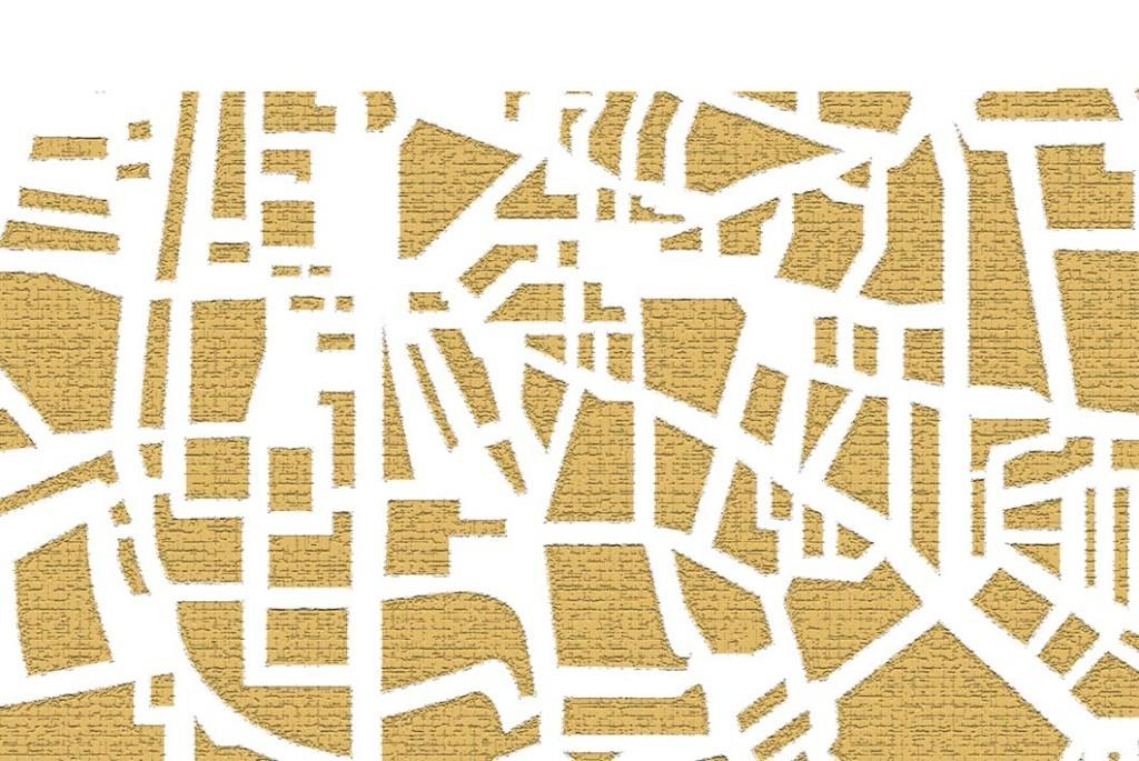 现代简约城市剪影装饰画