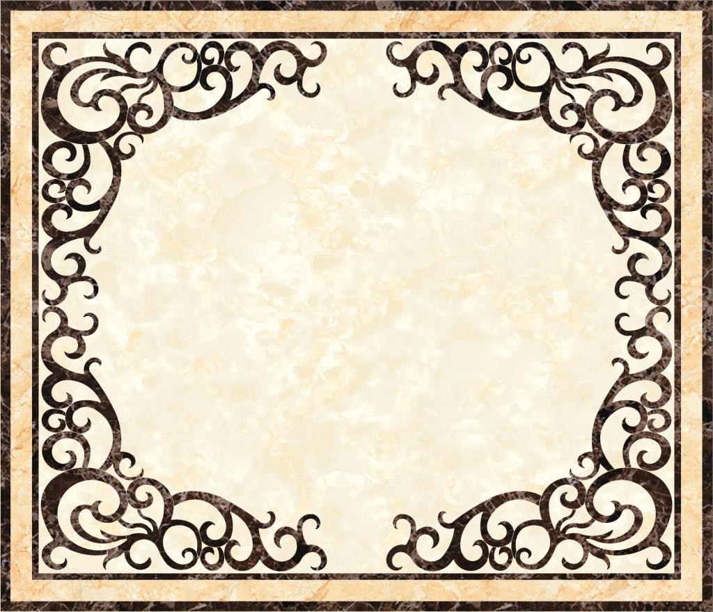 欧式客厅大理石材水刀拼花图案图片