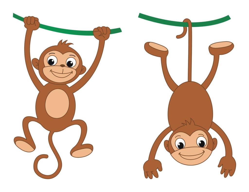 卡通猴子猴子矢量动感猴子素材图片 cdr模板下载 0.07MB 其他大全 其
