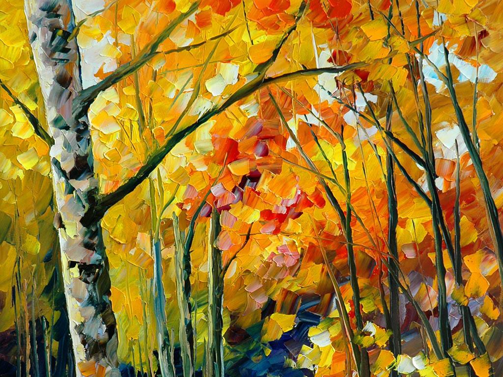 背景墙|装饰画 无框画 风景无框画 > 抽象油画枫树林有框无框装饰画