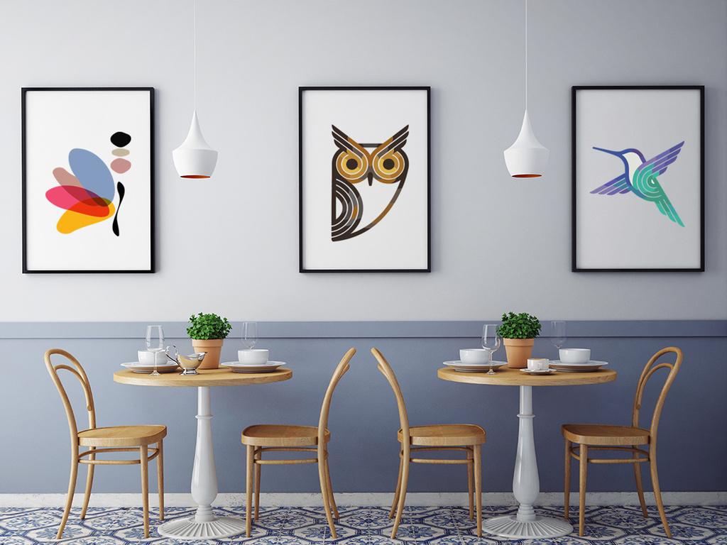 北欧风格照片墙图片设计素材_高清ai模板下载(0.42mb)图片