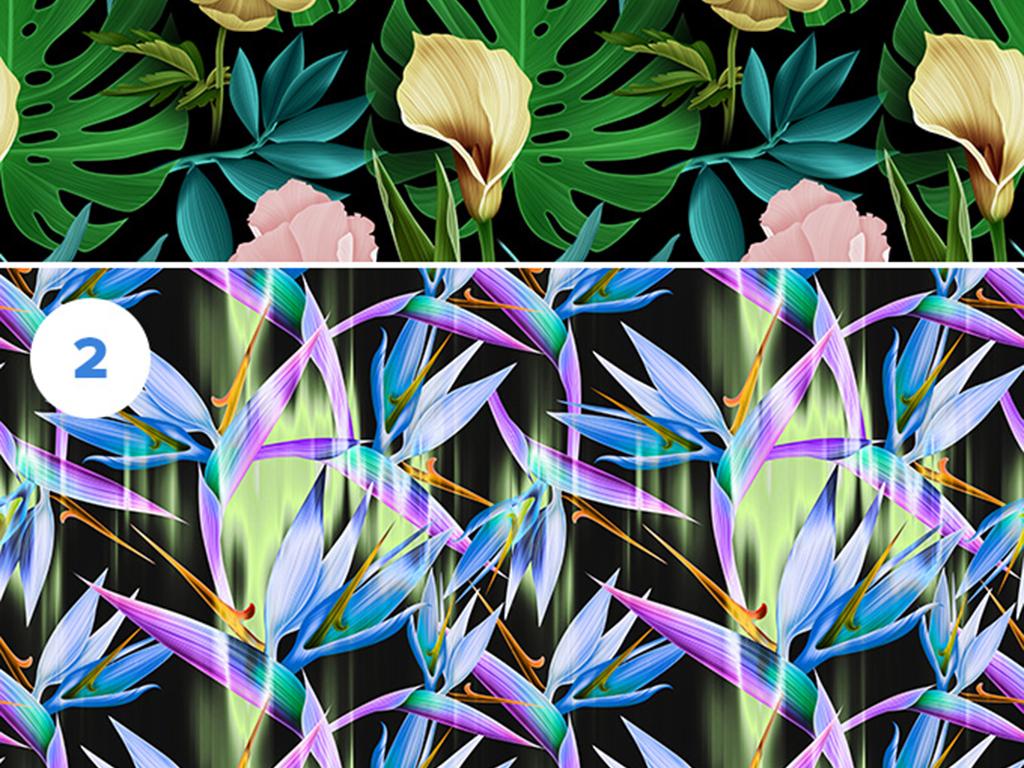 高清无限拼接花卉墙纸壁纸图案