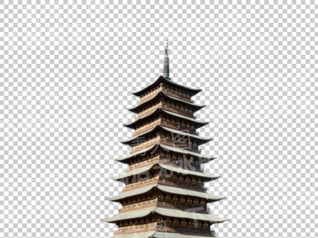 高清古典中国古建筑宝塔古塔