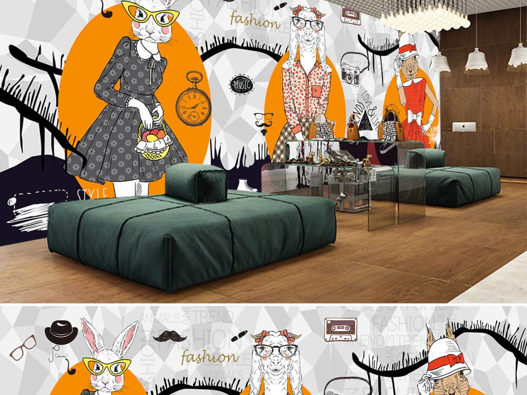 沙发橱窗手绘立面图