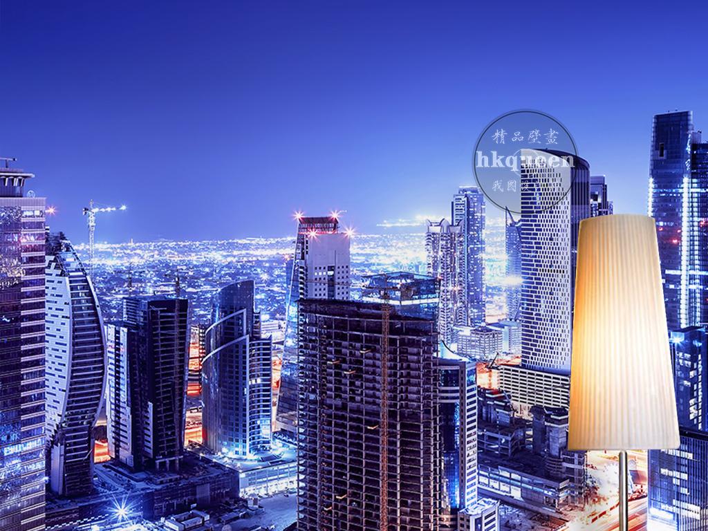 背景墙 电视背景墙 现代简约电视背景墙 > 梦幻唯美城市夜景建筑灯火