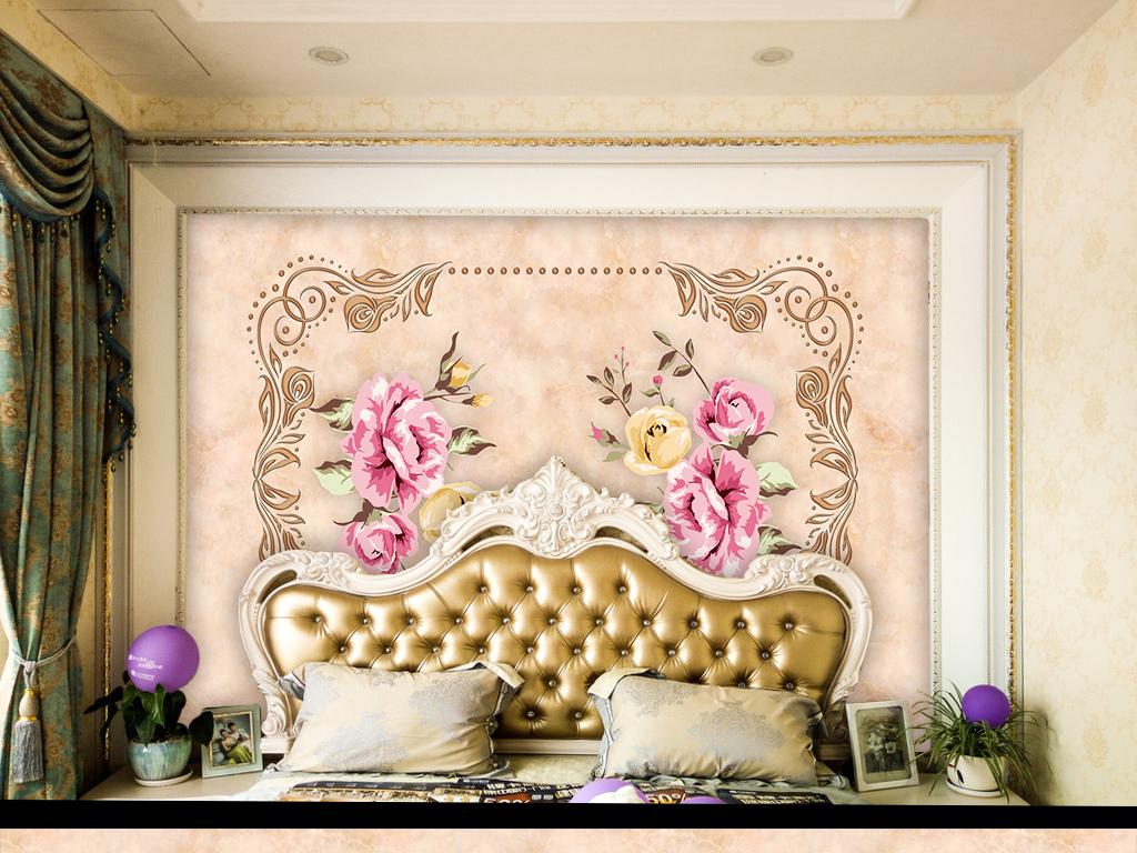 背景墙|装饰画 电视背景墙 欧式电视背景墙 > 欧式唯美高端电视背景墙图片