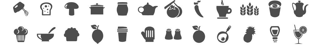 餐饮图标图片素材参数图片