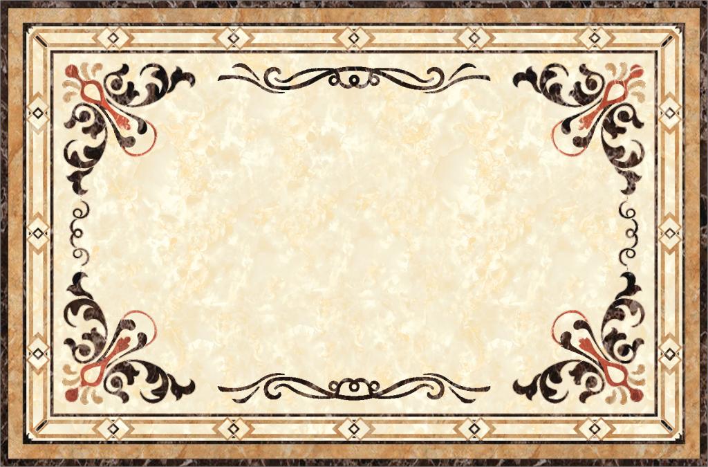 欧式客厅地面拼花图大理石材拼图