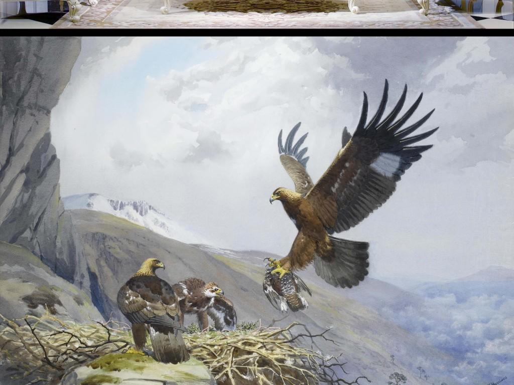 现代简约                                  手绘背景墙