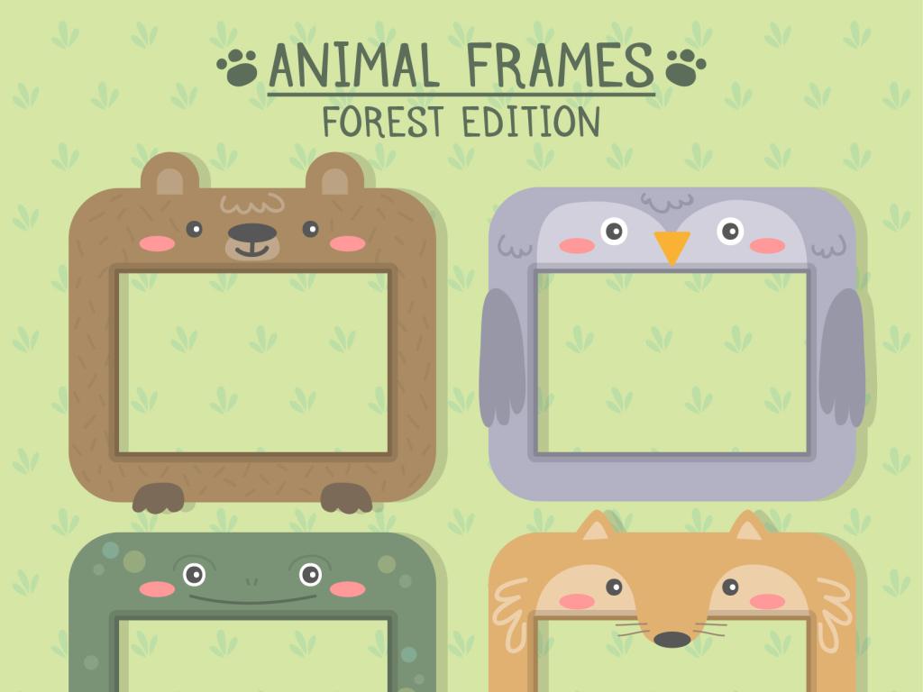 儿童相框可爱相片框装饰照片相框手绘小动物