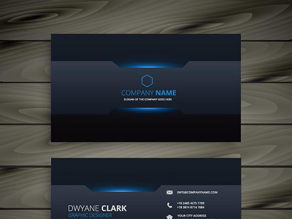 平面|广告设计 vip卡|名片模板 商业服务名片 > 黑色个性科技公司名片图片