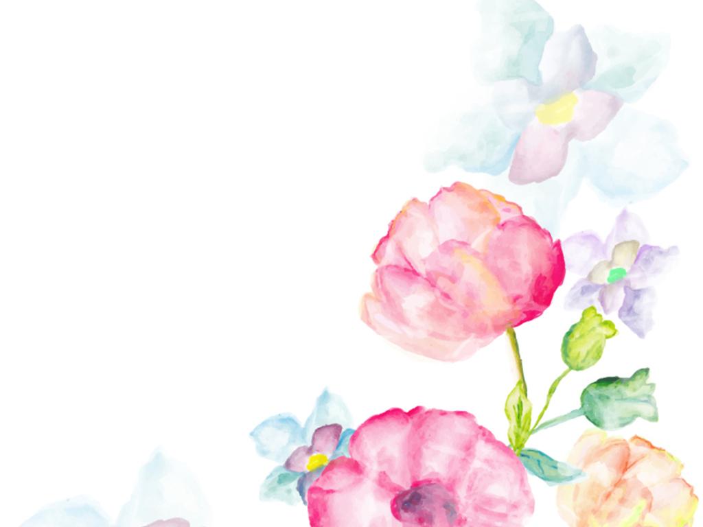 人物剪影欧式背景欧式婚礼矢量花纹婚礼背景模版玫瑰花粉色展板背景名