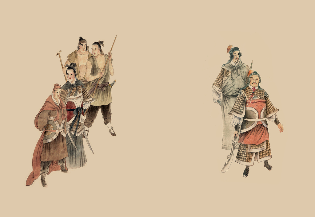 中国古典文学水浒传人物背 10图片