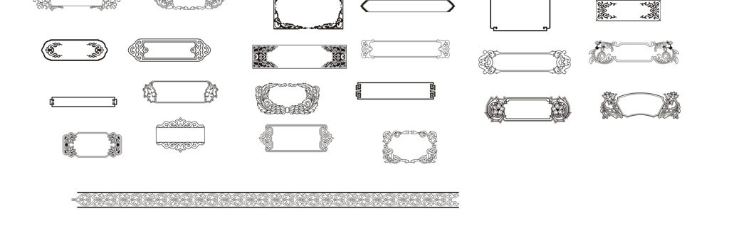边框手抄报可爱边框简单的手抄报花边边框小报边框
