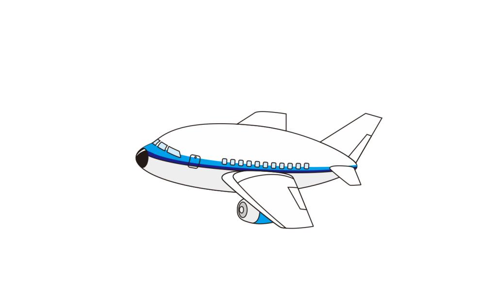 可爱q版卡通飞机客机民航空中客车