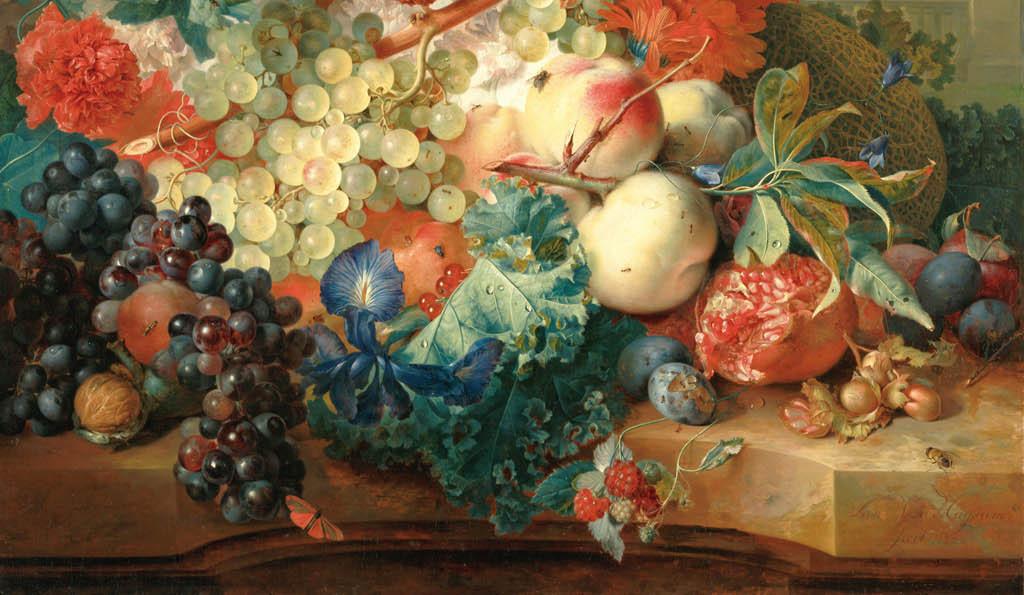 高清大图古典油画静物鲜花和水果高清图片下载 图片编号15210029 静