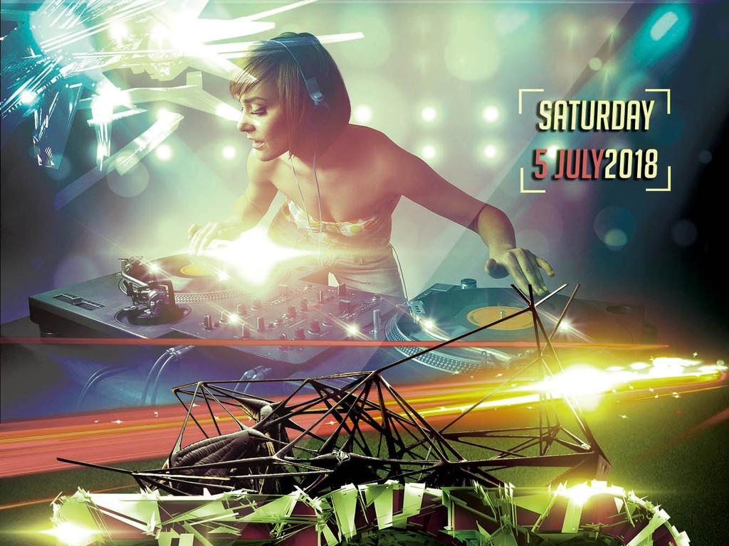 炫彩时尚动感潮流顶级电音派对创意海报图片