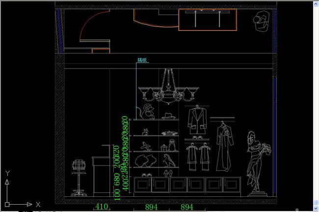 小型服装店cad设计施工图纸平面图下载(图片1.58mb)