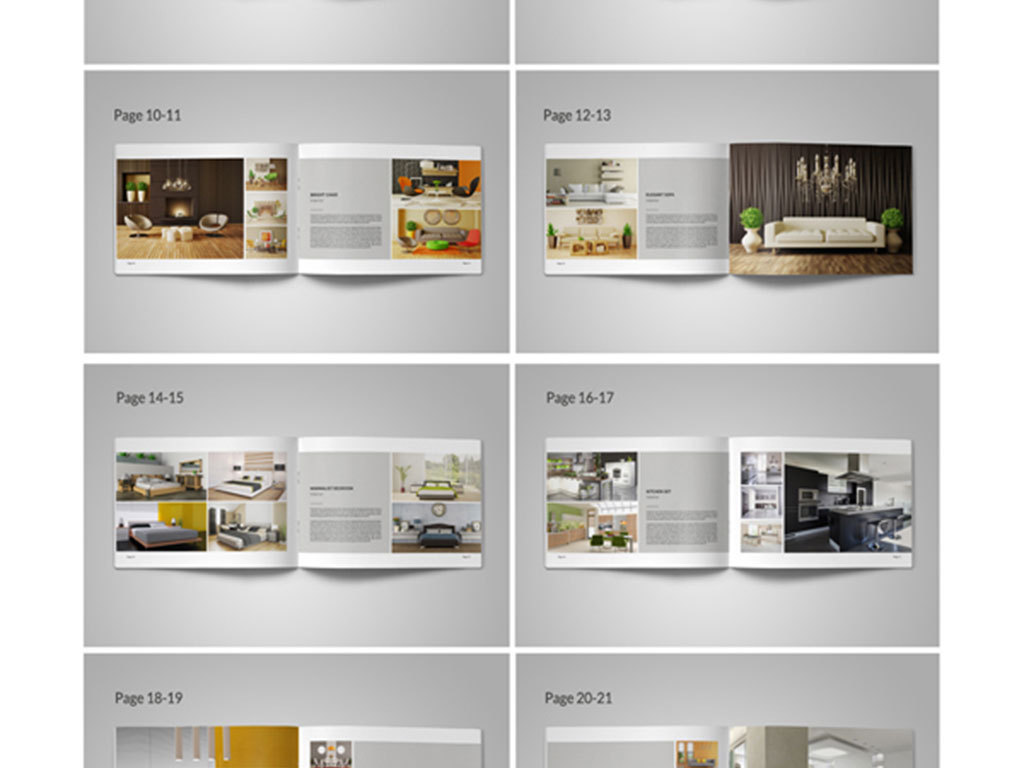 6个企业产品展示手册排版设计图片