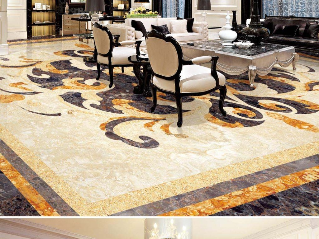 大厅石纹拼花地板地砖 位图, rgb格式高清大图,使用软件为 photoshop