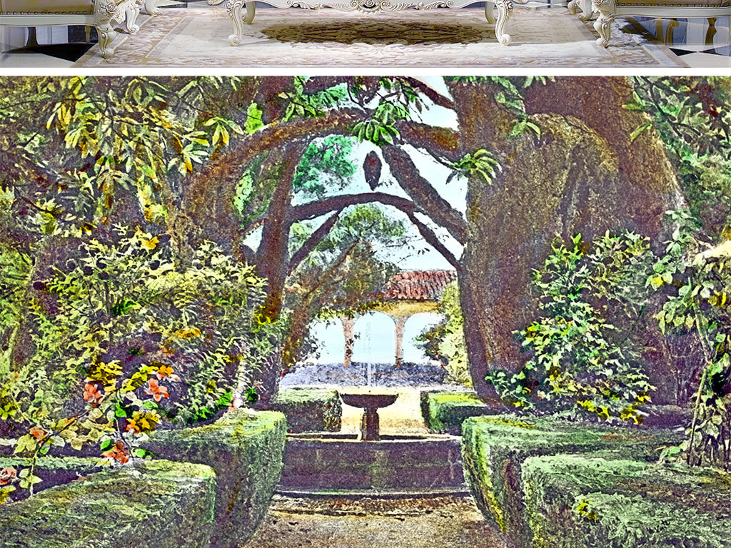 巴比伦空中花园复古