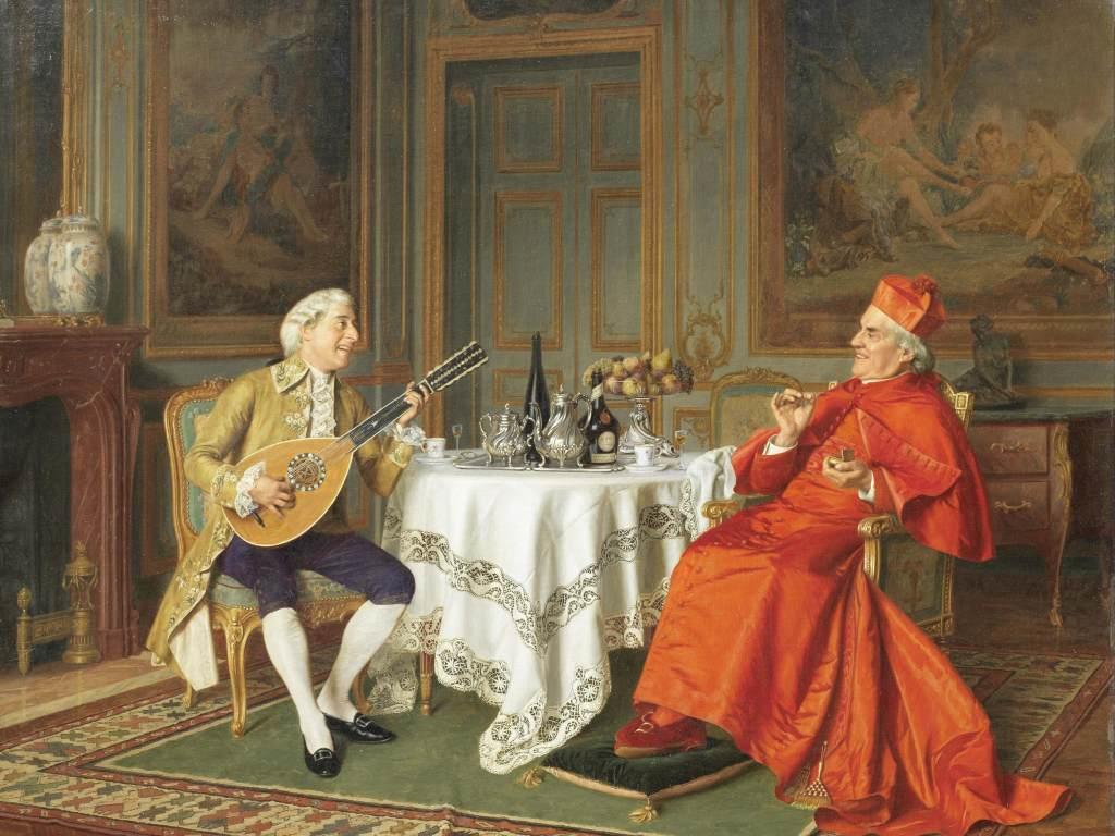 油画作品人物肖像欧洲宫廷油画