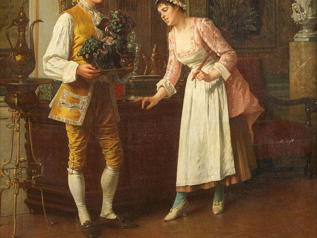油画作品人物肖像欧洲宫廷油画图片