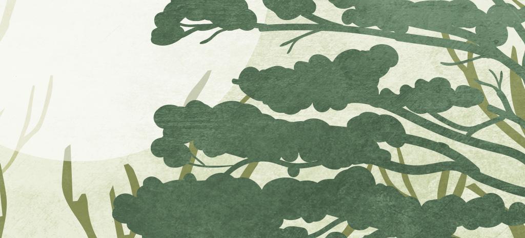巨幅手绘怀旧森林壁画