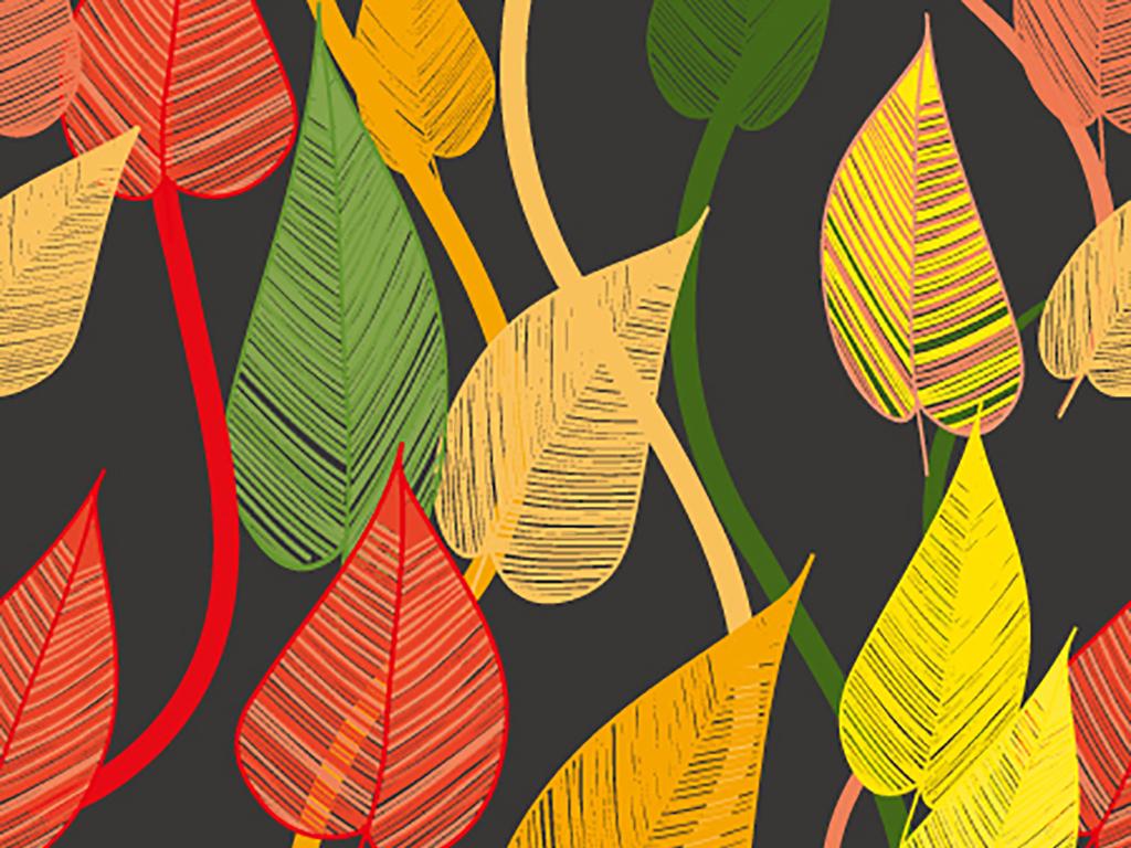 平面|广告设计 其他 产品设计 > 七彩树叶刺绣布料花纹图案服装围巾设图片