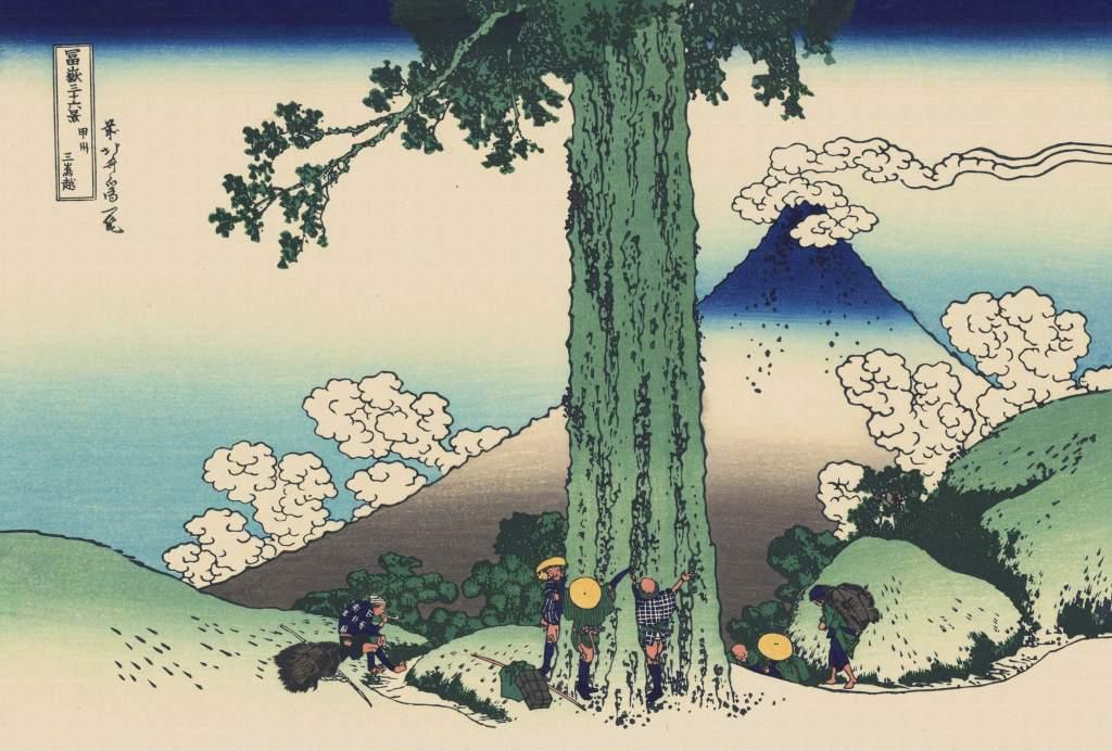 日本绘画美术浮世绘风景画背景