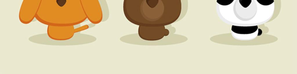 老虎浣熊狐狸小动物卡通小动物动物漫画国宝简笔画卡通造型矢量图q版