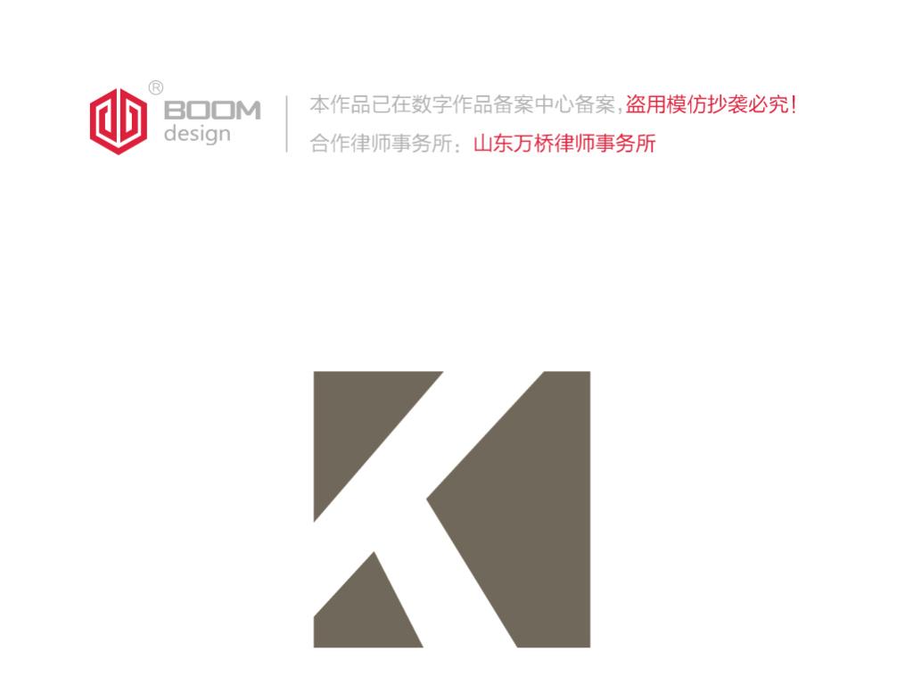 K字母logo设计服装品牌