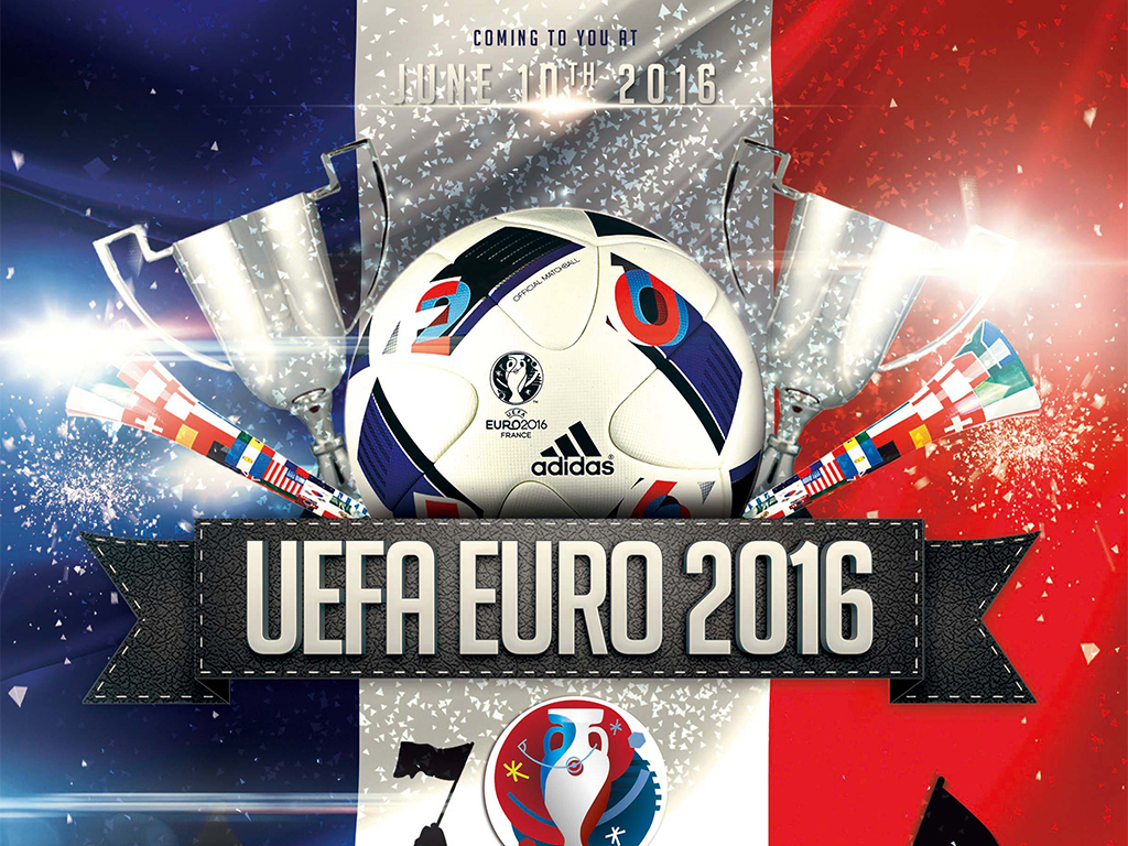 2016欧洲杯足球赛通用宣传海报模板图片