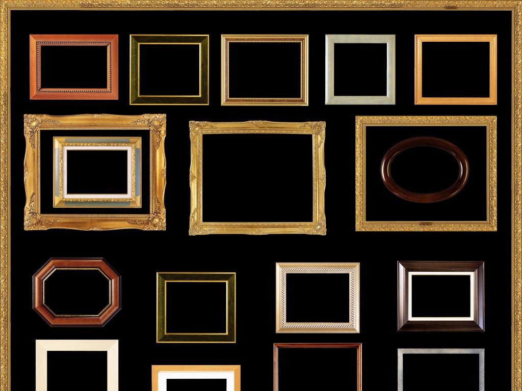 中国风典雅相框欧式雕刻画框模板下载图片