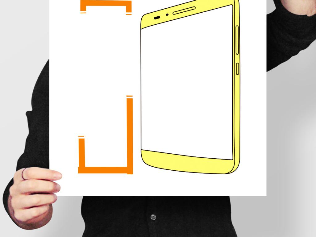 华为手机海报pop