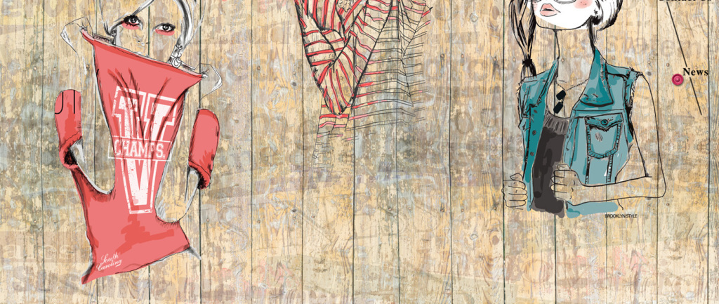 复古手绘美女欧式背景墙