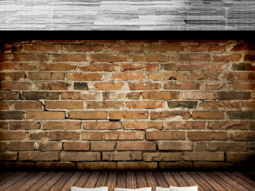 复古怀旧红砖墙壁背景墙