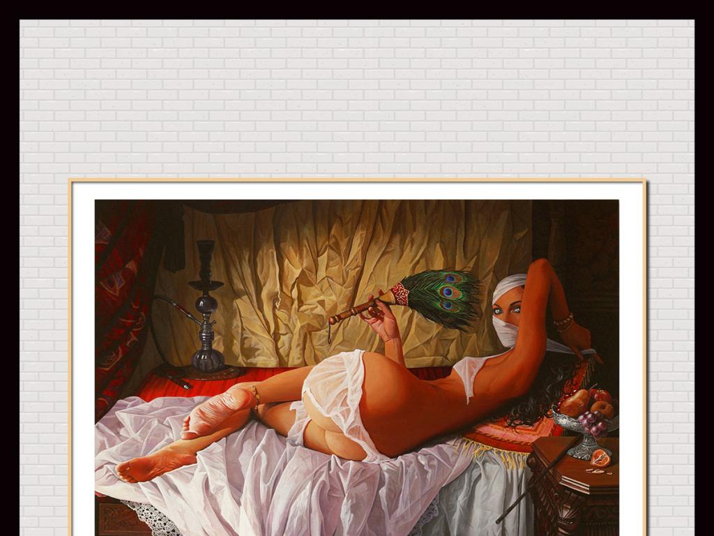 西域风情美女人体写生(图片编号:15244520)_人体油画