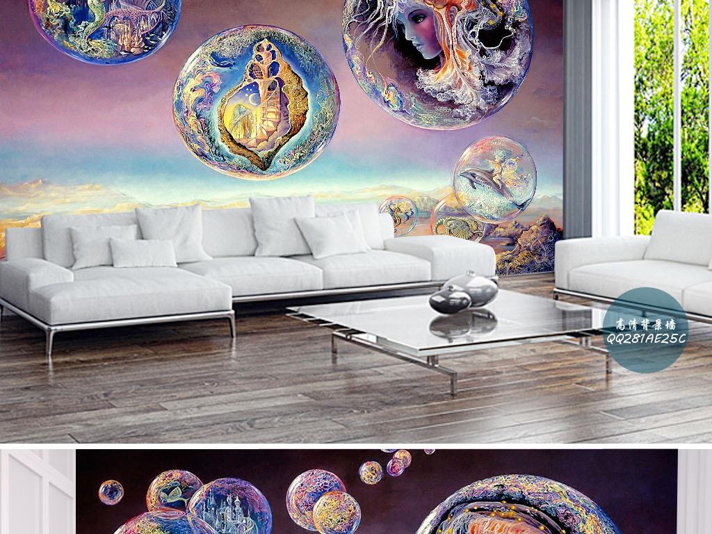 手绘图精灵品仙境儿童书房酒店ktv家工装修饰火星文字火星图片火星