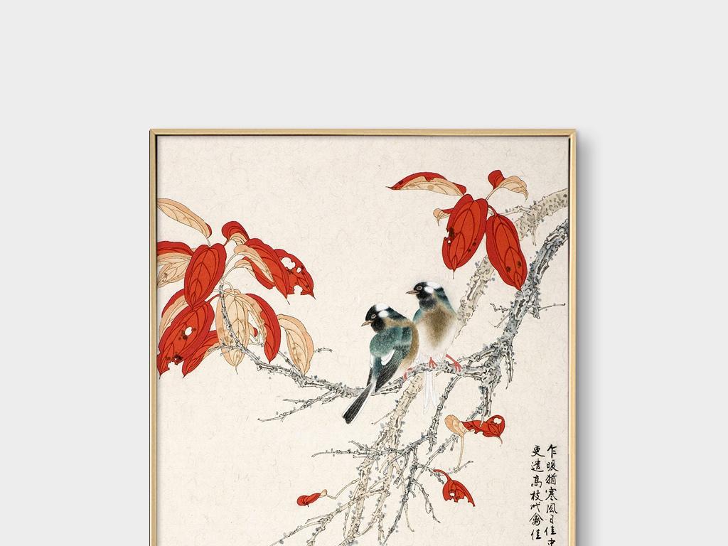手绘花鸟无框画装饰画(图片编号:15246254)_中国风无