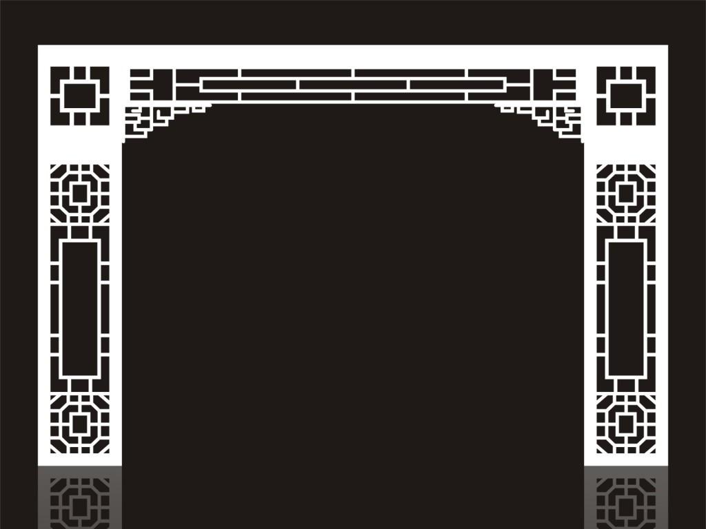 中式花纹风格屏风图片