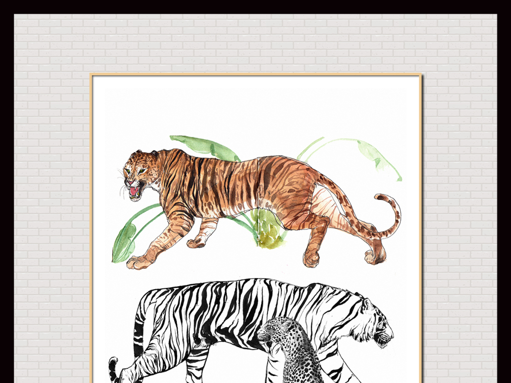 油画动物无框画动物油画抽象室内装饰画手绘