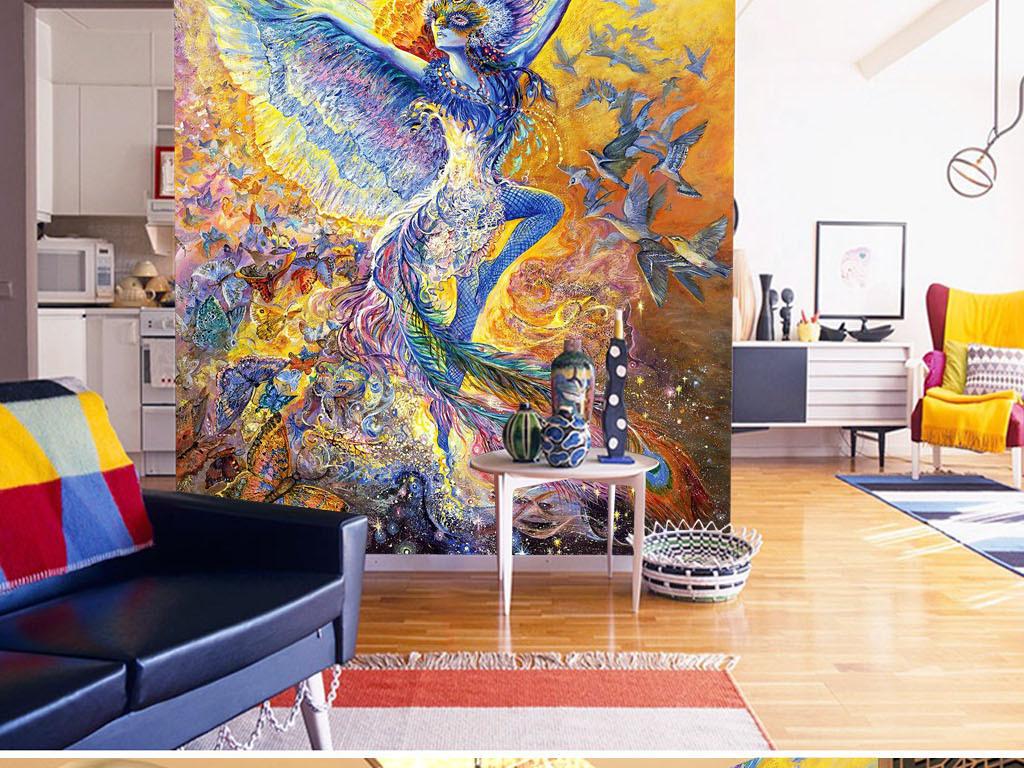 创意墙壁手绘图