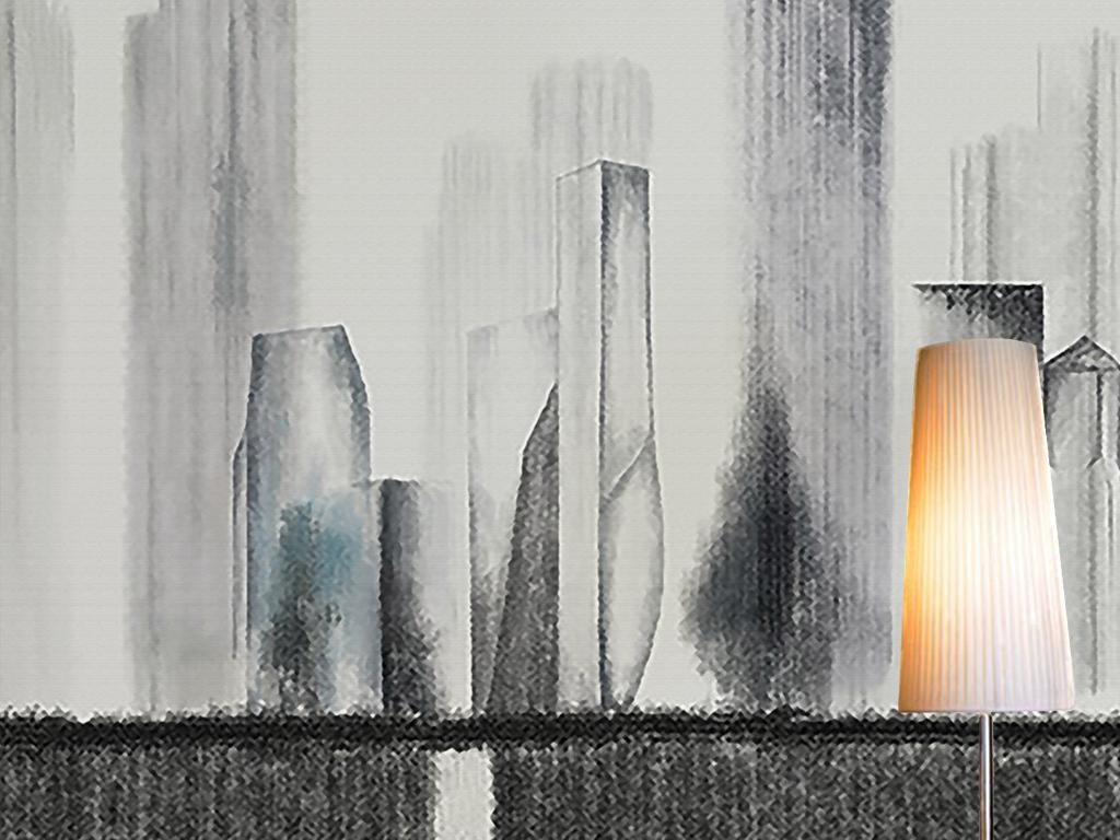 手绘个性壁画电视背景墙现代简约抽象北欧背景墙壁画房屋壁纸桌面壁纸